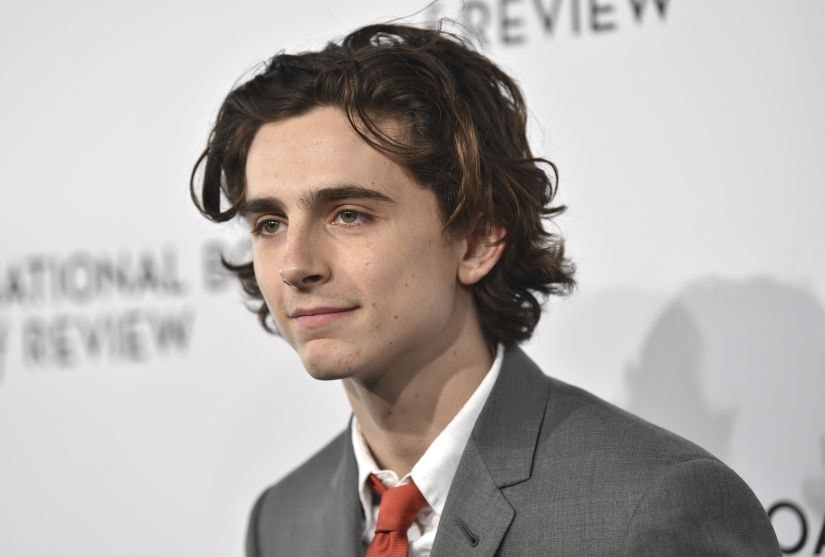 Timothee Chalamet attends the National Board of Review Awards Gala at Cipriani 42nd Street on Tuesday, Jan. 9, 2018, in New York. (Photo by Evan Agostini/Invision/AP)