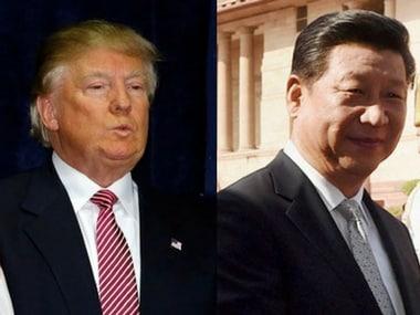 File image of Donald Trump and Xi Jinping