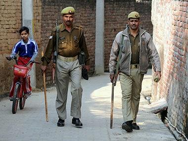 Uttar Pradesh police, Allahabad. Representative image. AFP