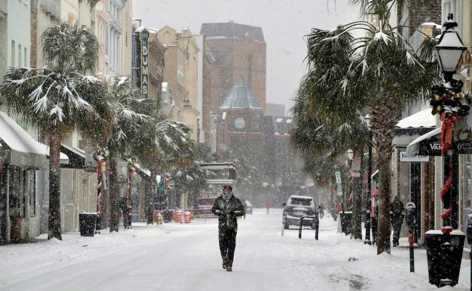 North Carolina Governor Roy Cooper on Thursday said three people have died in the snow storm. AP