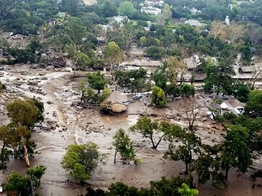 a dozen people missing after mudslides in Southern California on Tuesday destroyed over a 100 houses, swept cars to the beach and left more than a dozen victims dead. AP