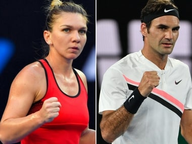 Simona Halep and Roger Federer will be in action on Monday at Australian Open. AP