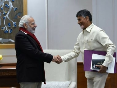 Andhra Pradesh Chief Minister N Chandrababu Naidu met Prime Minister Narendra Modi in Delhi on Friday. Twitter@ncbn