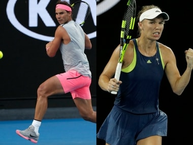 Rafael Nadal and Caroline Wozniacki took little time to get past their third-round opponents. AP
