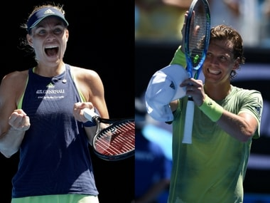 Angelique Kerber and Tomas Berdych are through to the quarter-finals with contrasting wins. AP, AFP