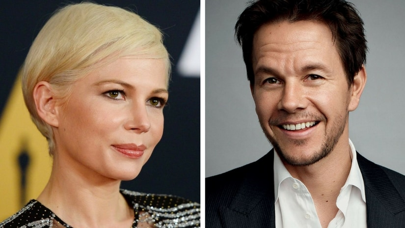 Michelle Williams (left); Mark Wahlberg (right). Facebook