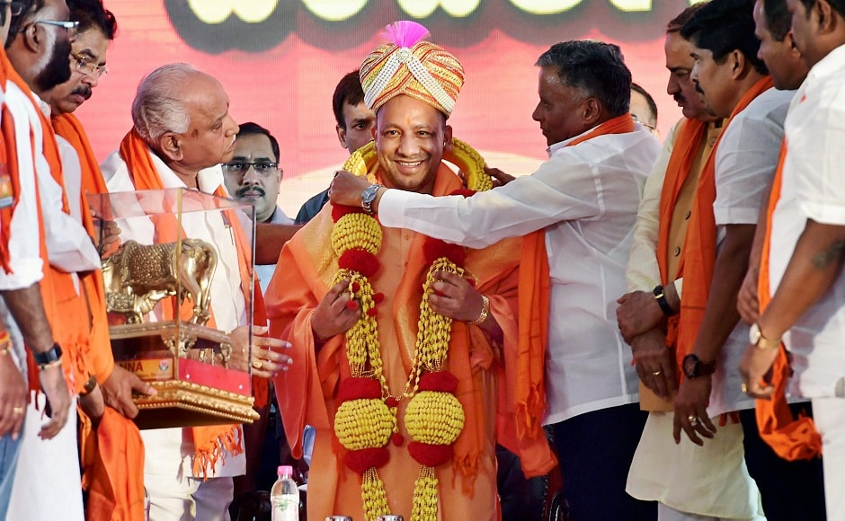 Uttar Pradesh chief minister Yogi Adityanath addressed a BJP rally in Bengaluru on Sunday in view of the upcoming Assembly election in Karnataka. Party's state unit president BS Yeddyurappa, central ministers from the state Ananth Kumar and DV Sadananda Gowda also addressed the rally. PTI