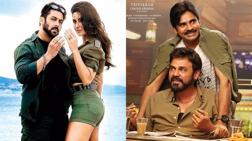 Posters of Tiger Zinda Hai and Agnyaathavaasi.