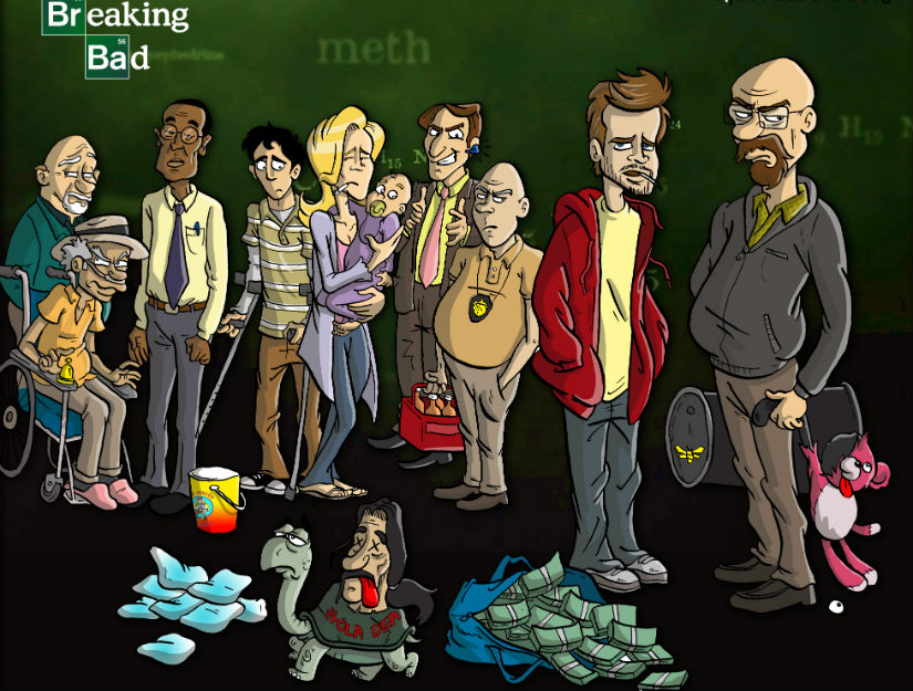 Breaking Bad fan art. Miquel Casals