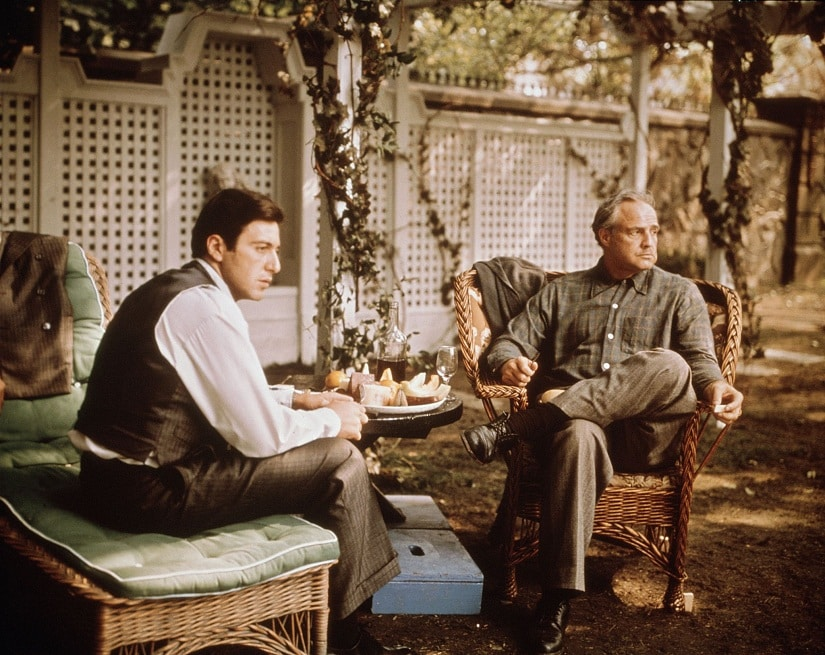 A still from The Godfather