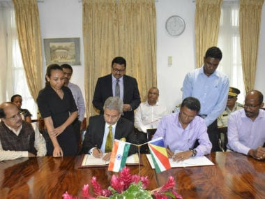 India and Seychelles signed the agreement on Saturday. Twitter @meaindia