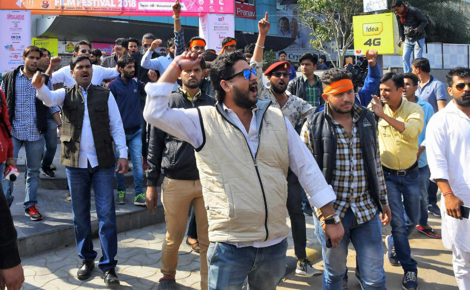 In Jaipur, the epicentre of the protests, Karni Sena said that a 'janta curfew' will be imposed on cinema halls ahead of the movie's release. PTI