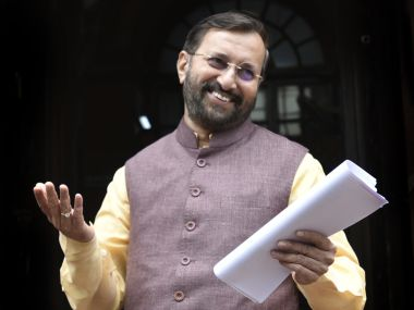 File image of HRD minister Prakash Javadekar. Getty Images