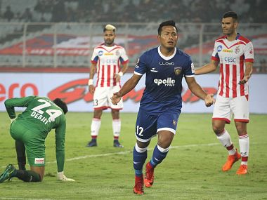 ISL 2017-18: Chennaiyin FC beat defending champions ATK to jump to top of table
