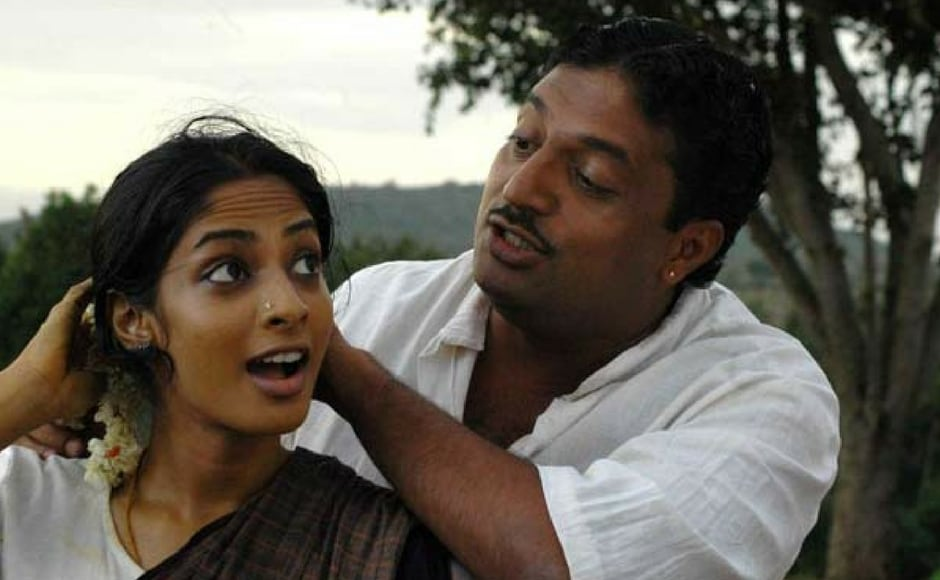 A still from 2007 Tamil movie Kanchivaram starring Prakash Raj and Sriya Reddy/Image from YouTube.