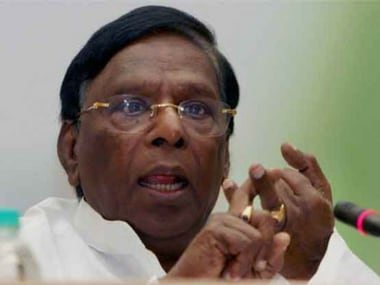 File image of Puducherry V Narayanasamy. News18