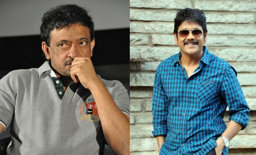 Director Ram Gopal Varma (left) and actor Nagarjuna (right).