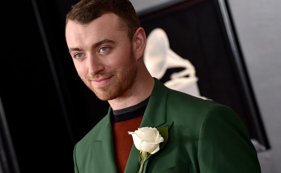 Sam Smith arrives at the 60th annual Grammy Awards. AP/Evan Agostini
