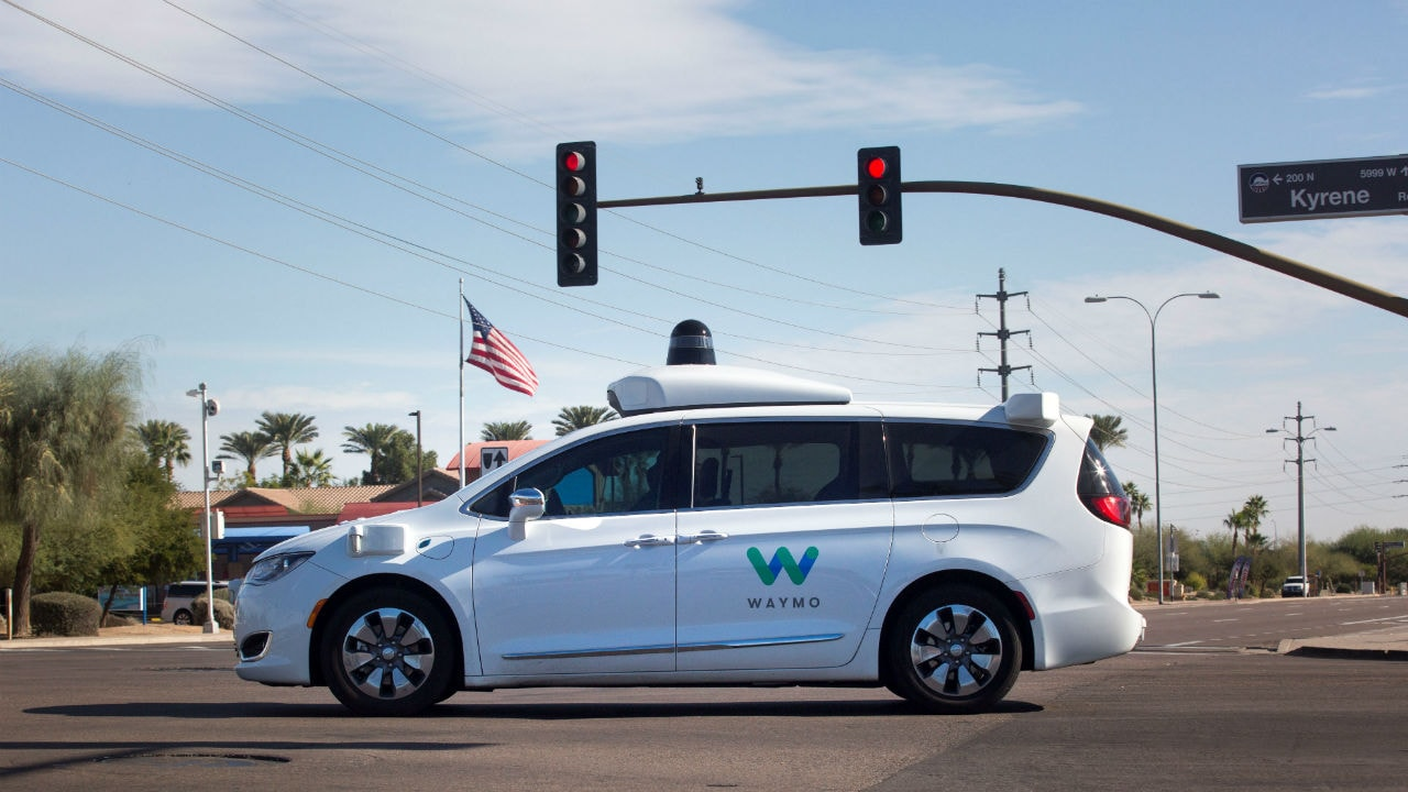 Waymo's self-driving cars being tested. Reuters.