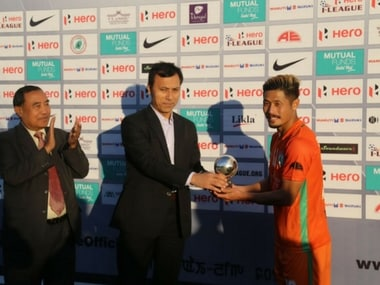Singam Subash Singh's brace propels NEROCA FC to 2nd place. Agencies
