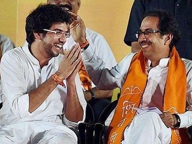 File image of Aaditya and Uddhav Thackeray. PTI