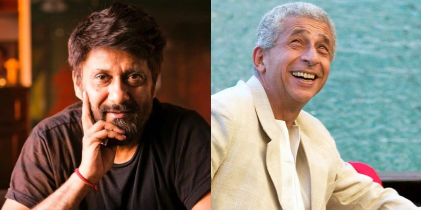 Director Vivek Agnihotri and Naseeruddin Shah. Images from Facebook/@vivekagnihotri and Reuters