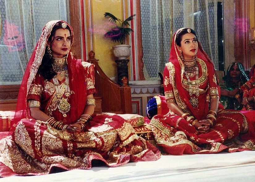 Rekha and Karisma Kapoor in a still from Zubeidaa