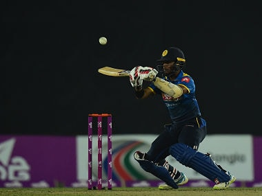 Sri Lanka cricketer Kusal Mendis plays a shot during the first Twenty20 cricket match between Bangladesh and Sri Lanka at the Sher-e-Bangla National Cricket Stadium in Dhaka on February 15, 2018. / AFP PHOTO / MUNIR UZ ZAMAN