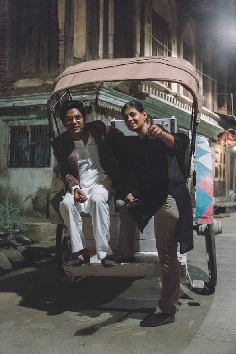 Das and Siddiqui on set. Image from Facebook/@Mantofilm