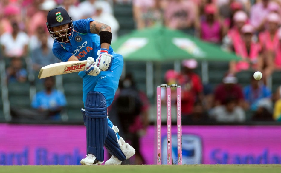 Indian skipper Virat Kohli's terrific form with the bat in the series was on display in the fourth ODI as he was striking the ball to perfection. He shared a 158-run partnership with Dhawan before getting out for 75.