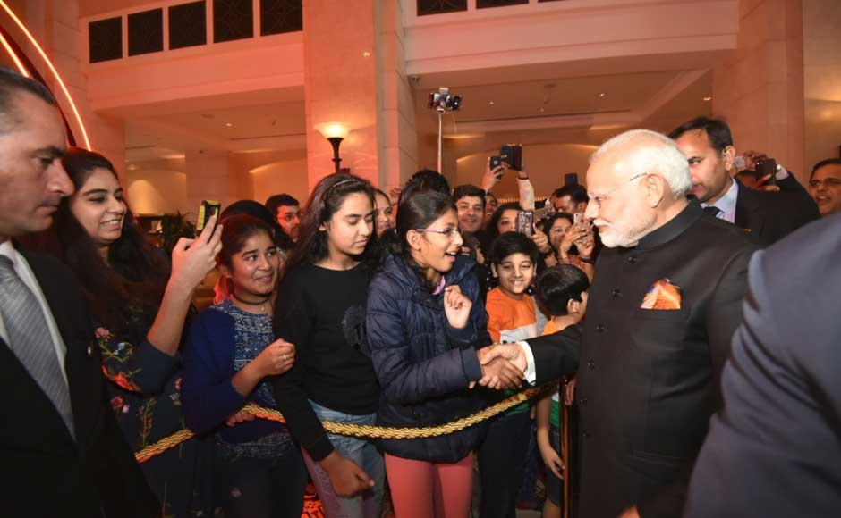 The prime minister also met the Indian community in Amman, the capital of Jordan. Twitter@PMOIndia