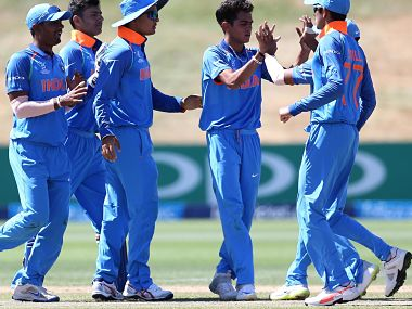 Kamlesh Nagarkoti celebrates taking a wicket in the match against Bangladesh. ICC Media