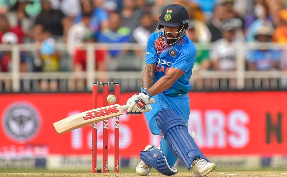 Despite wickets falling at the other end Shikhar Dhawan held the innings together with ablistering72 off 39 balls with the help of10fours and2 sixes. PTI