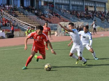 Aizawl FC ended run of  eight games without a win by beating Indian Arrows in Aizawl. Image Courtesy: I-League