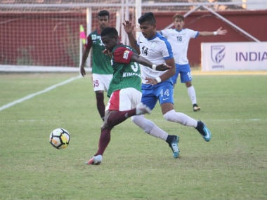 Mohun Bagan in action against Indian Arrows. I-League