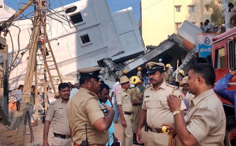 Police said the under-construction building suddenly collapsed around 3.30 pm, trapping many. Fire brigade and police personnel, who were informed, launched rescue operations assisted by local people. PTI
