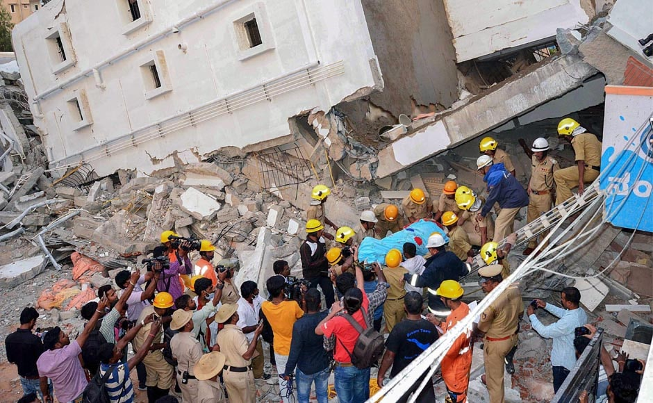 The NDRF also joined the rescue efforts. The building construction began six years ago but was stopped later. Six months ago, work started again, said a senior police official.