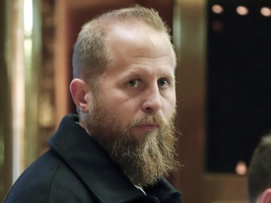 FILE - In this Nov. 15, 2016 file photo, Brad Parscale, who was the Trump campaign's digital director, waits for an elevator at Trump Tower in New York.  President Donald Trump has named former digital adviser Brad Parscale as campaign manager of his 2020 re-election campaign.   (AP Photo/Carolyn Kaster)