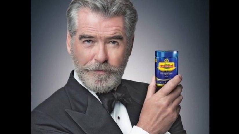 Pierce Brosnan in the Indian pan masala advertisement. Facebook