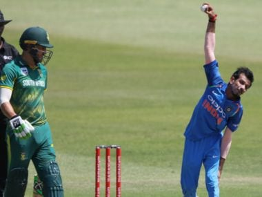 Yuzvendra Chahal picked two wickets in the first ODI in Durban on Thursday. AFP