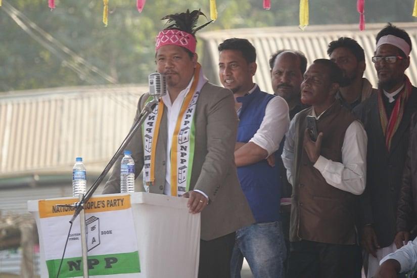 Kongkal Sangma, chief of the National People's Party (NPP) . Firstpost/Rishiraj Bhagawati