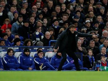 Chelsea manager Antonio Conte at Stamford Bridge. Reuters
