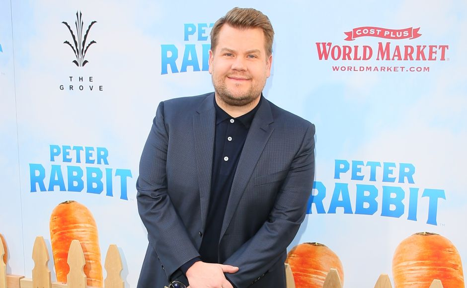 British comedian and talk show host James Corden voices the titular character in Peter Rabbit. AFP/Jean-Baptiste Lacroix