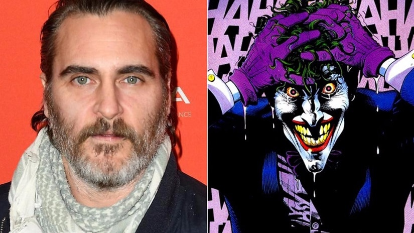 Joaquin Phoenix and The Joker. Images from Twitter.