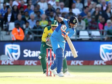 Suresh Raina hit 43 off 27 balls and took one wicket for 27 runs in three overs in an all-round display to help India beat South Africa by seven runs. Image courtesy: Twitter @BCCI
