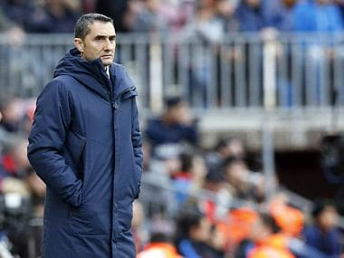 File photo of Barcelona manager Ernesto Valverde. Image courtesy: Twitter @FCBarcelona