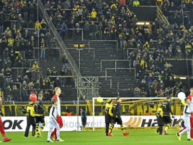 Thousands of supporters protest against Bundesliga matches on Mondays. AP