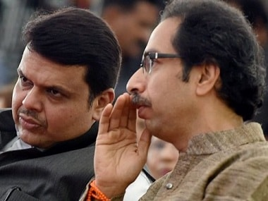 File image of Devendra Fadnavis with Uddhav Thackeray. PTI