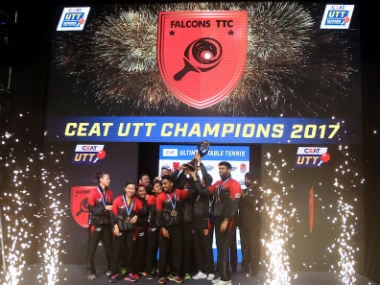 Falcons TTC won the inaugural Ultimate Table Tennis in 2017. AFP