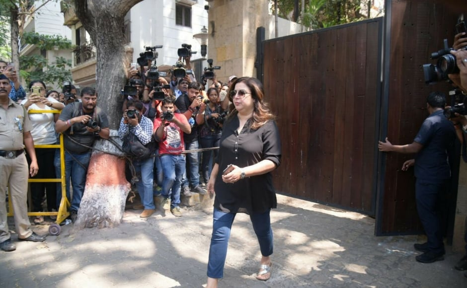 Farah Khan arrives at Anil Kapoor's residence in Mumbai in the aftermath of Sridevi's death/Sachin Gokhale/Firstpost